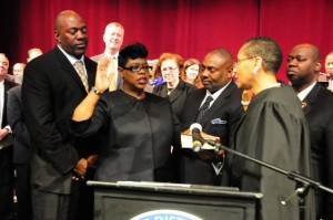 darcel clark being sworn in