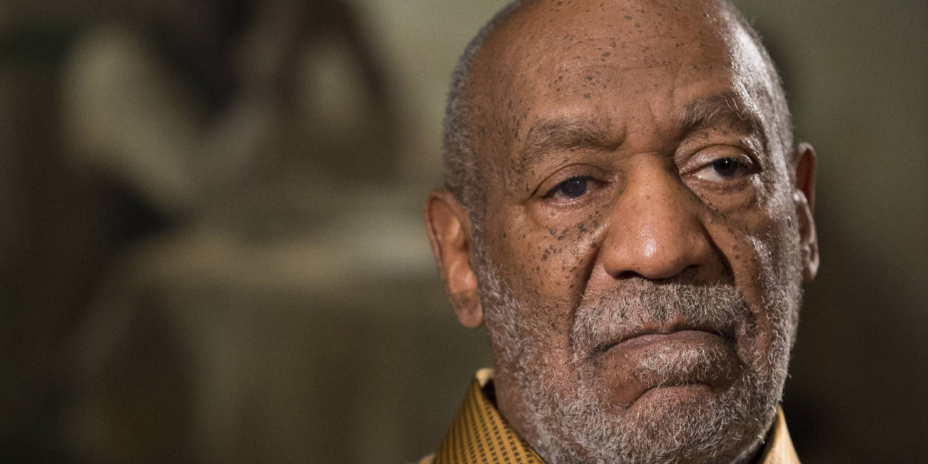 """In this photo taken Nov. 6, 2014, entertainer Bill Cosby pauses during an interview about the upcoming exhibit, Conversations: African and African-American Artworks in Dialogue, at the Smithsonian's National Museum of African Art in Washington. The Smithsonian Institution is mounting a major showcase of African-American art and African art together in a new exhibit featuring the extensive art collection of Bill and Camille Cosby. More than 60 rarely seen African-American artworks from the Cosby collection will join 100 pieces of African art at the National Museum of African Art. The exhibit """"Conversations: African and African American Artworks in Dialogue,"""" opens Sunday and will be on view through early 2016. (AP Photo/Evan Vucci)"""