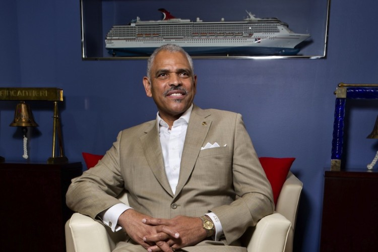 Arnold Donald of Carnival Corp is the new CEO in the post-Triumph, post-Micky Arison-as-CEO era. He faces the issues rehabilitating its image and getting customers and travel agents back on its side. (C.W. Griffin/Miami Herald/MCT)