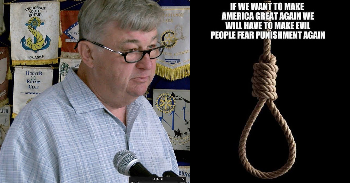 Louisiana school board member post 'Make evil people fear punishment' with image of noose on social media